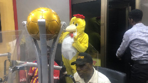 MTN FA Cup Committee Chairman, Wilson Arthur (seated)