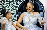 Nigerian actress, Uche Ogbodo with her first child