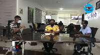 [L-R]: Host of the show Abrantepa with panelists Vida Adutwumwaa Boateng and Nana Yaw Wiredu