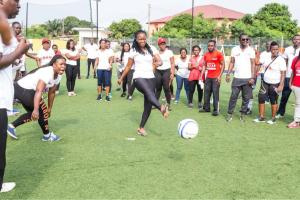 Staff of UBA partaking in the fun games