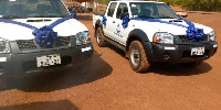 The new vehicles for the Salaga Divisional Command