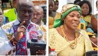 Former Accra Mayor Mohammed Adjei Sowah and nominee Elizabeth Sackey