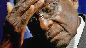 The beleaguered Zimbabwean outgoing President Robert Mugabe
