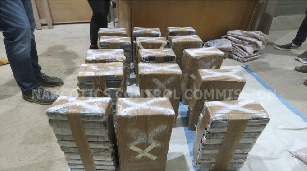 152kg of cocaine concealed in sugar intercepted at Tema Port