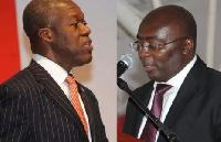 Vice President Amissah-Arthur(left) and Dr. Mahamudu Bawumia(right)