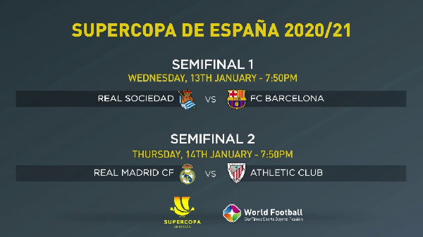 This year's Spanish Super Cup features four teams