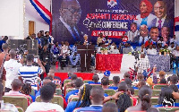 Mrs Bawumia speaking at the Ashanti Regional NPP Youth Wing Conference and Inauguration