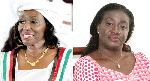 NDP flagbearer, Nana Konadu Agyeman-Rawlings and  CPP flagbearer, Brigitte Dzogbenuku