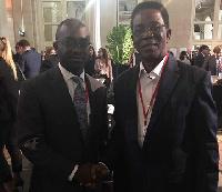 Sam Phillip Gyimah with Prof. Kwesi Yankah