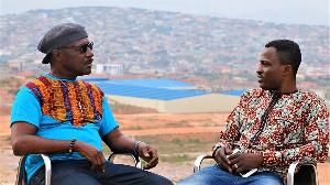Gyedu-Blay Ambolley speaking to Attractive Mustapha