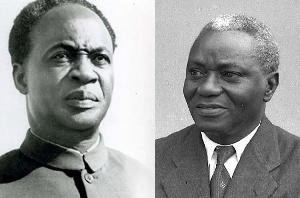 Dr. Kwame Nkrumah (L) and Dr. J.B. Danquah were members of the famous