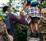 File photo of a couple on a hill