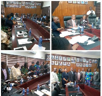 Newly inaugurated members of the board