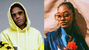 Nigerian musicians, Wizkid and Tems