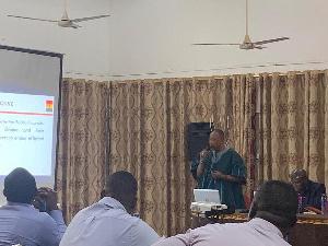 Siraj Tanko speaking at the training