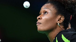 Funke Oshonaike, 45, first started playing table tennis at the age of 14