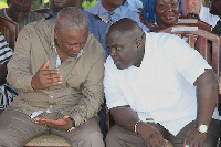 President John Mahama [L] and Chief of Staff, Julius Debrah