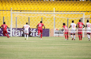 Asante Kotoko and Hearts of Oak scored their penalty kicks
