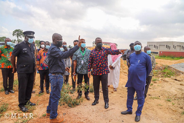 Samuel Jinapor inspects housing project for Police Service