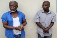 Suspected Alajo coup plotter doctor, Frederick Yao Mac-Palm with his counterpart
