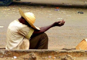 A file photo of a beggar on the street