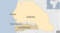 Map showing Senegal