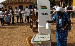 File photo: A voter casting her vote