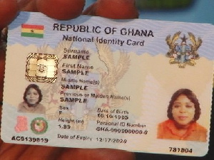 The Ghana Card is in ID1 format and biometric.