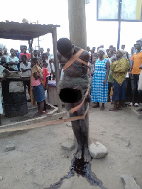 The thief lynched by residents of Apowa