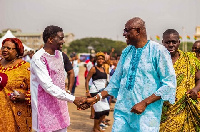 Agyinasare paid a courtesy call on the Osu Mantse