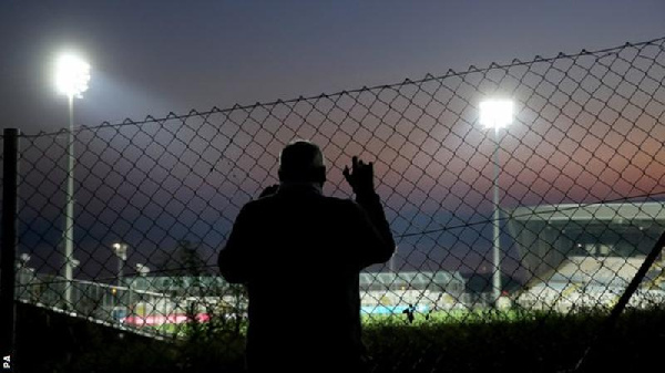Fans were prevented from attending the match