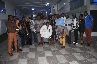 Kennedy Agyapong aka Kenpong in a group photograph with the celebs