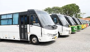 MASLOC presented a total of 83 buses to the Ghana Road Transport Union
