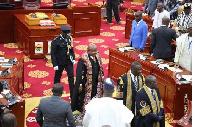 Professor Mike Oquaye refused to postpone Parliament's proceedings despite low turnout