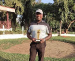 John Akoto Inkum with his trophy