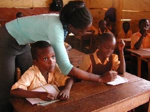 Primary School Students And Teacher