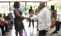 Gifty Twum-Ampofo paid a courtesy call on Nana Addo Dankwa Akufo-Addo at his Nima residence.
