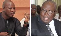 Mahama Ayariga (L) and Martin Amidu