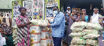 The items were made up of 50 bags of 25kg rice and boxes of cooking oil