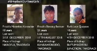 The three kidnapped Takoradi girls