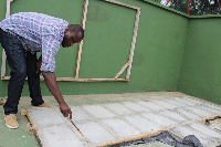 The renovation is being undertaken as part of preparation to host an International Tennis Federation
