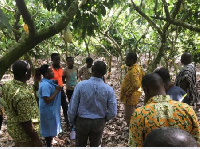 COCOBOD CEO toured some cocoa farms and interacted with the farmers