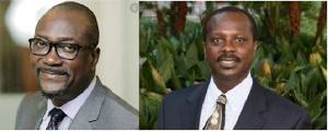 Prof H. Kwasi Prempeh (L) and Prof Asare
