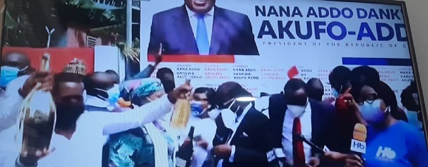 Election Petition: NPP pops champagne to celebrate court ruling