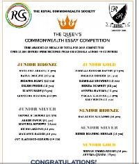 Roman Ridge Sch wins 23 medals in Queen's Commonwealth Essay