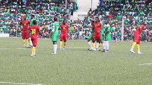 Comoros played Ghana at the Stade Moroni on Friday.