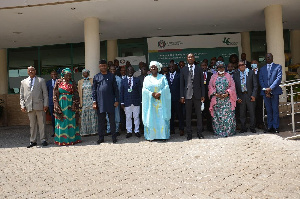 Participants at the ECOWAS review meeting in a group photo