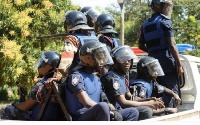 Policemen were deployed to the scene