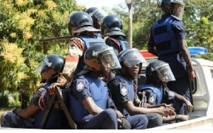 Armed National Security personnel, police reportedly shut down the office at Tesano [File photo]