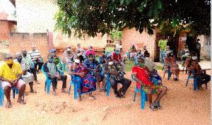 Members at Alavanyo-Agoxoe in the Hohoe Municipality